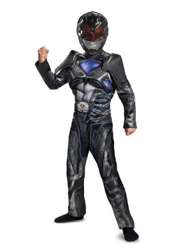 Disfraz de Power Rangers Movie Black Ranger Boys Deluxe