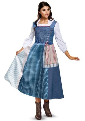 Disfraz de Belle Village Dress Deluxe para mujer