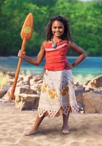 Disfraz de Moana de Disney clásico para niña