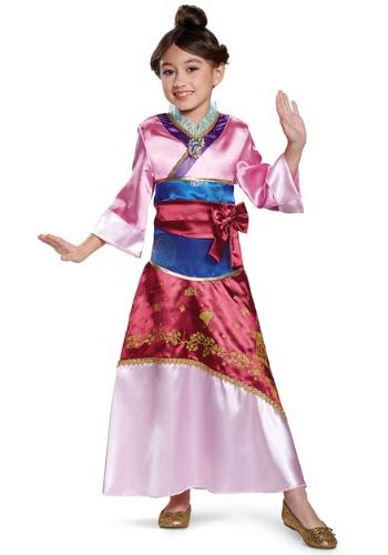 Disfraz de Mulan Deluxe para niña