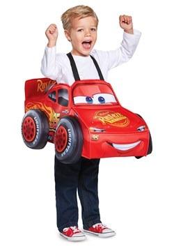 Disfraz 3D del Rayo McQueen para niños pequeños