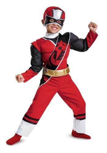 Disfraz de niño de acero Ninja Steel Ranger rojo