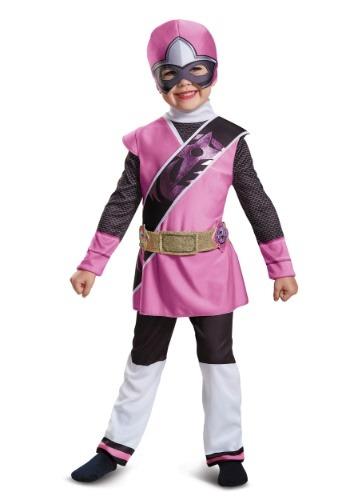 Disfraz de Ranger rosa de Power Rangers Ninja Steel niños