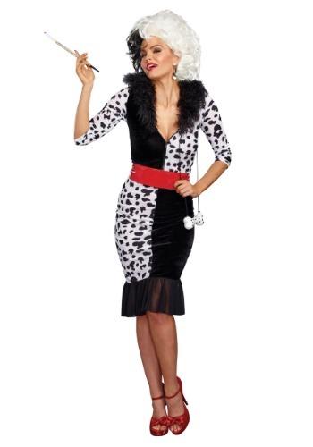 Disfraz diva dálmata para mujer