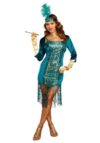 Disfraz para mujer Tantalizing Teal Flapper