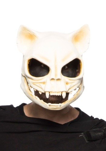 Máscara de  calavera de gato para adulto