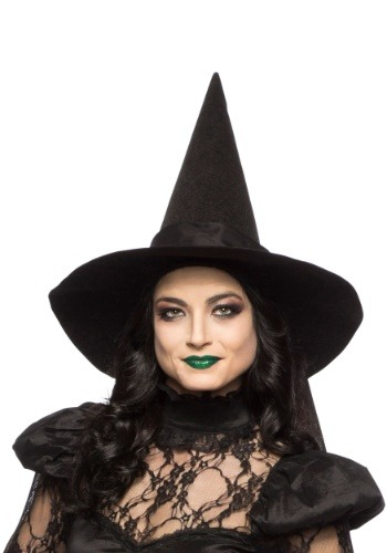 Sombrero de bruja con lazo para adulto