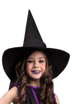 Sombrero de bruja infantil con lazo
