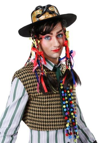 Chameleon Popstar Hat para hombre con peluca