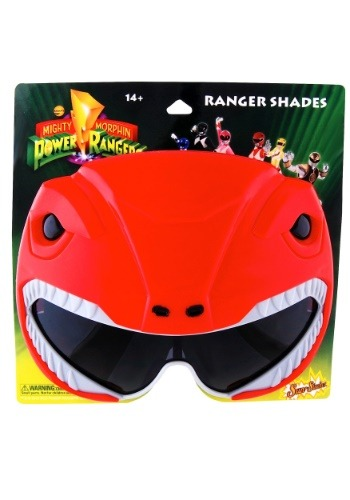 Gafas de sol Power Rangers rojas de adultos Ranger