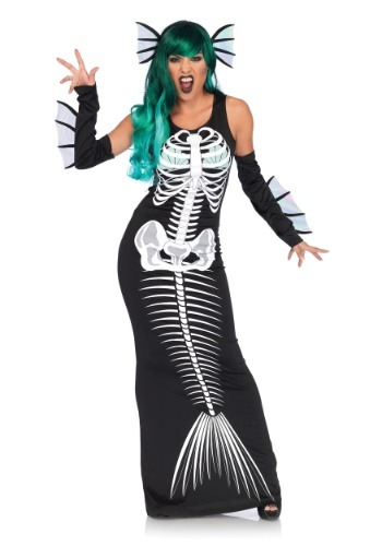 Disfraz para mujer sirena esqueleto