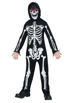 Los niños se desvanecen dentro / fuera del traje de esquelet