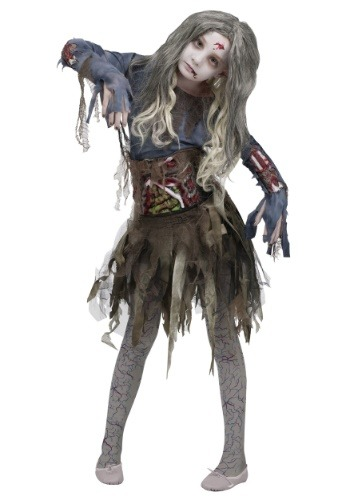 Disfraz de zombi para niñas