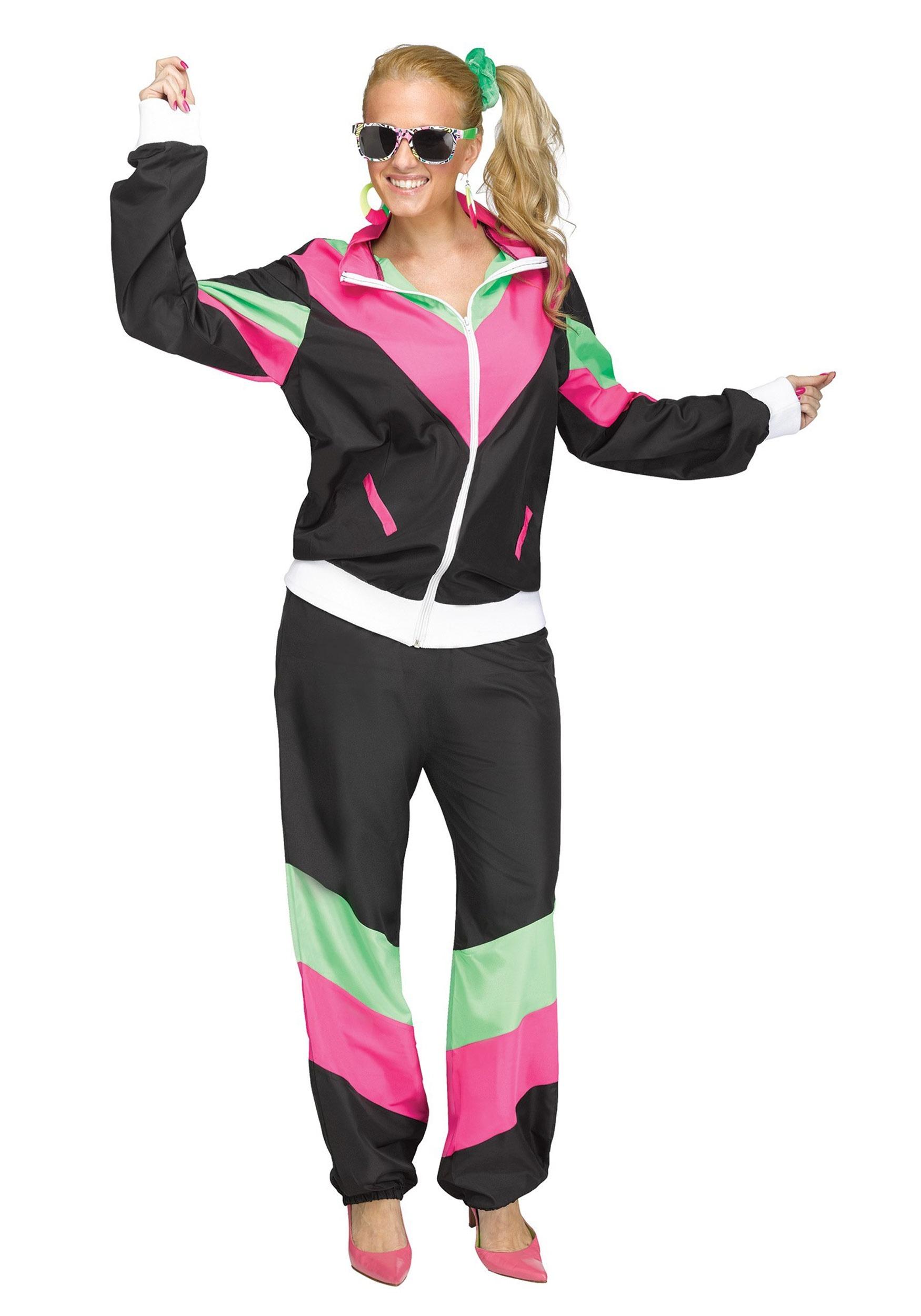 primera vista venta en línea obtener nueva Disfraz de ropa de ejercicio para mujer de los años 80
