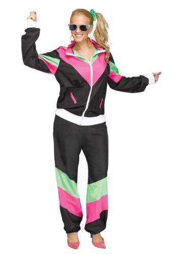 Disfraz de ropa de ejercicio de años 80 talla extra mujer