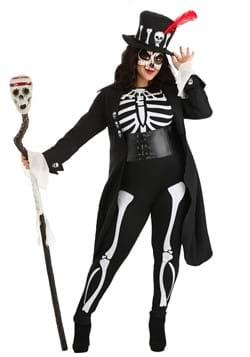 Disfraz de esqueleto vudú para mujer talla extra