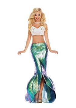 Debajo del traje de la sirena del mar de las mujeres