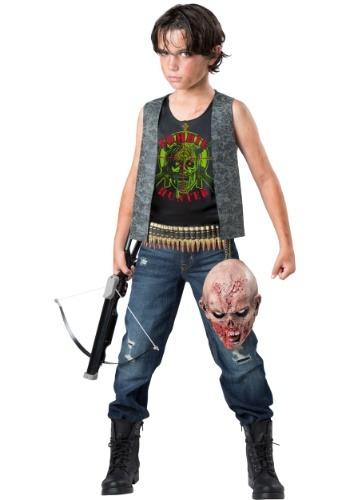 Disfraz de cazador Zombie para niño