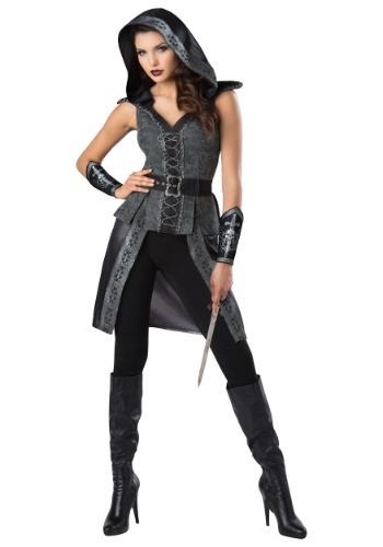 Disfraz de cazadora de maderas oscuras de mujer