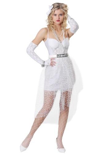 Disfraz de mujer como una estrella pop virgen