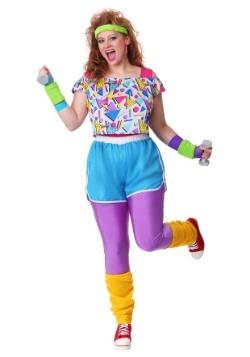 Disfraz de mujer de talla grande Work it Out 80's