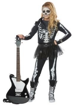Disfraz de Skeleton Rocker Girls