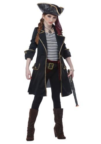 Disfraz de Capitán Niñas Capitán High Seas