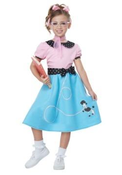 Traje azul de los años 50 de Sock Hop Dress Girls