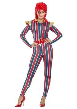 Disfraz de superestrella del espacio de los años 80 para muj