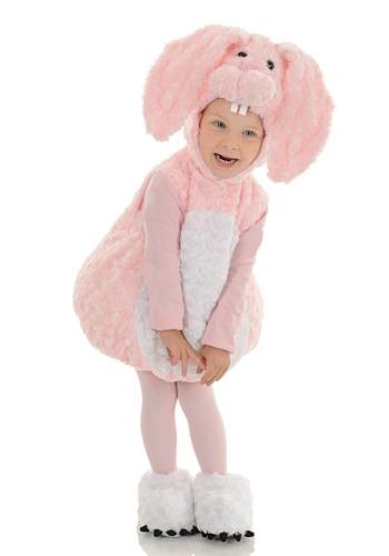 Disfraz de conejito rosado para niña pequeña