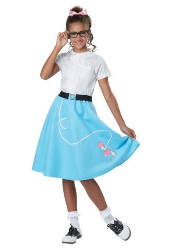 Falda de los 50 's con Poodle para niñas
