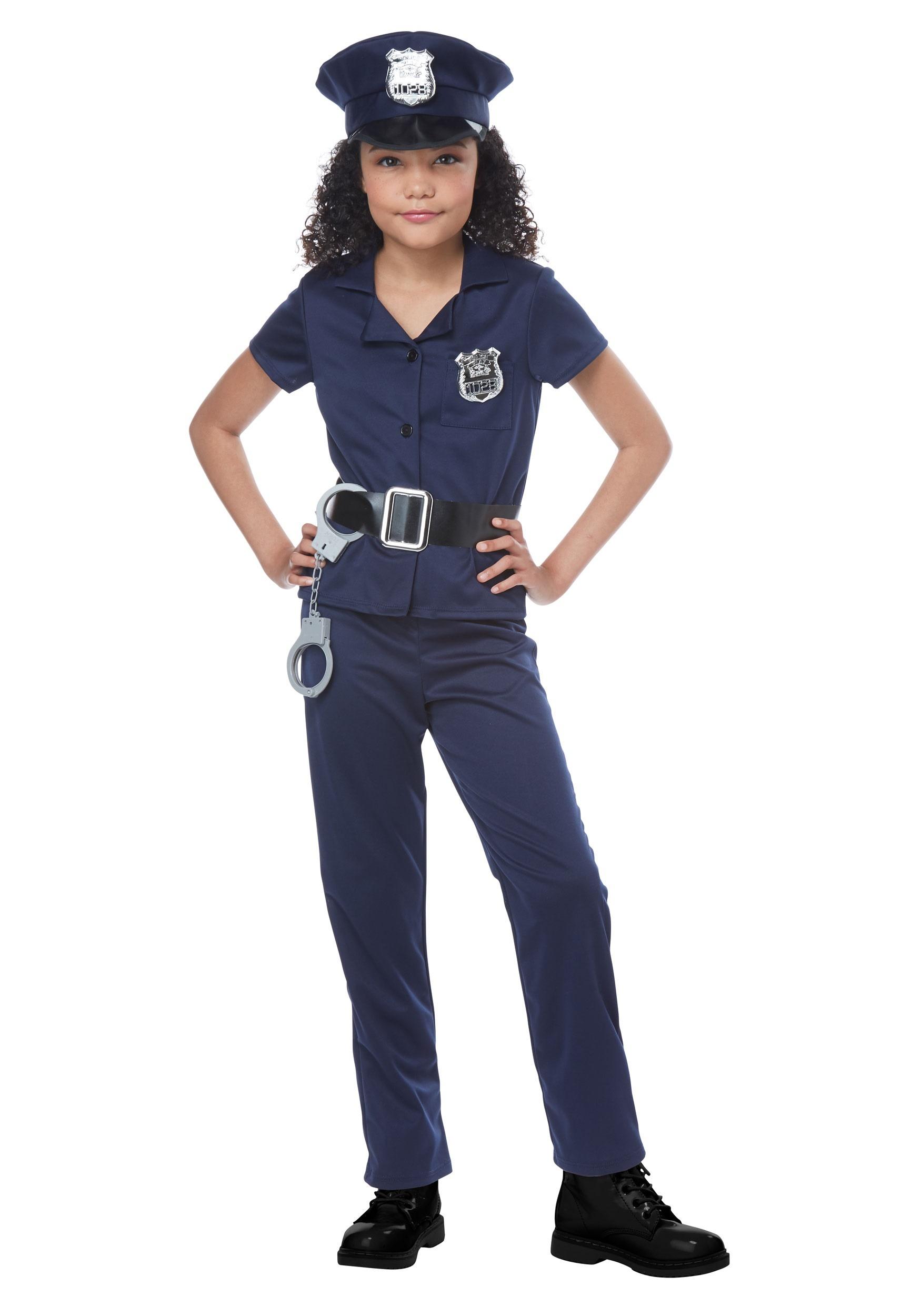 e6534042c Disfraz de policía linda para niñas