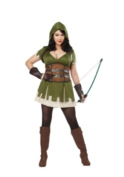 Disfraz de Lady Robin Hood Plus Size para mujer