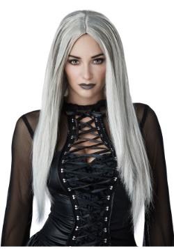 Peluca gótica gris para mujer