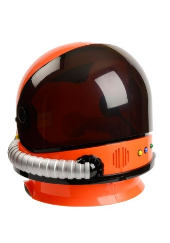 Casco de astronauta naranja para niños