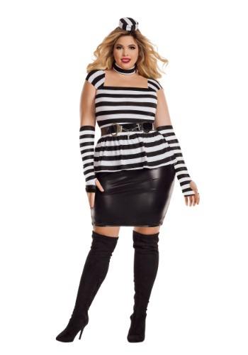 Disfraz de Jailbird Plus Size para mujer