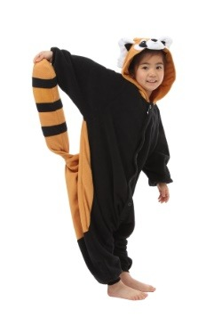Kigurumi para niños de panda rojo