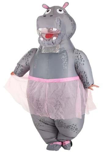 Disfraz de hipopótamo hinchable adulto