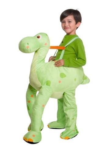 Disfraz de dinosaurio verde para niños pequeños