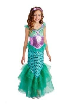 Blue Seas Mermaid Deluxe Girls Costume