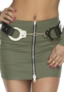 Cinturón de policía con esposas para mujer