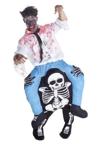 Disfraz de esqueleto de montar para hombre