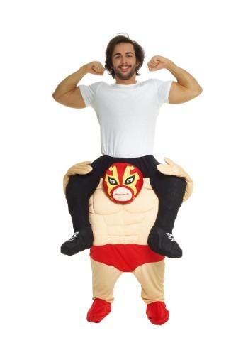 Disfraz de luchador de montar para hombre