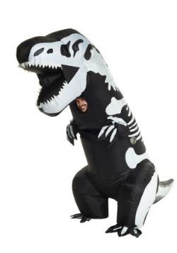Disfraz inflable de esqueleto de T-Rex para adulto