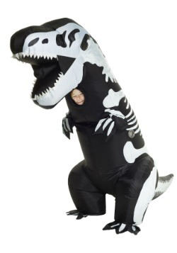 Traje inflable de T-Rex del esqueleto infantil