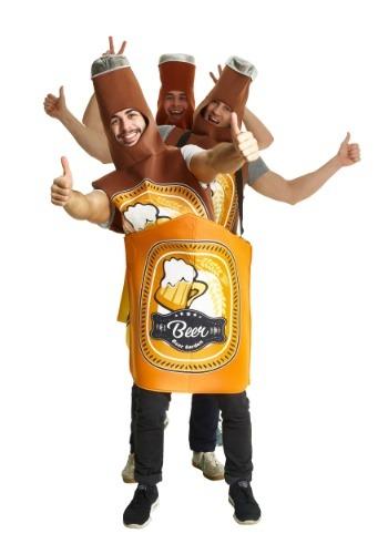 Disfraz de botella de cerveza para adulto
