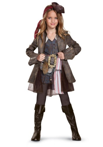 Disfraz de Capitán Jack Sparrow Girls Deluxe