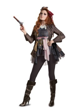 Disfraz de Capitán Jack Sparrow Deluxe para mujer