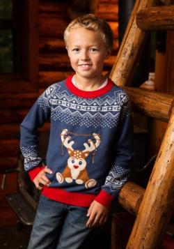 Suéter reno LED de niño reno