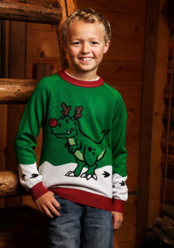 Suéter de dinosaurio reno niño